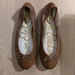 Sam Edelman brown leather flats - size 9